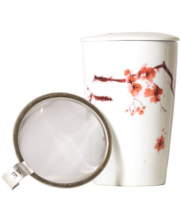 Cherry Blossom Tea Mug with Infuser
