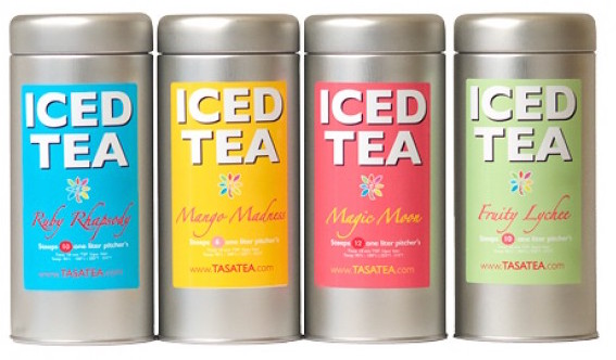 Tea tins with iced tea